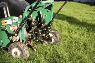 Lawn Aeration helping lawns breath